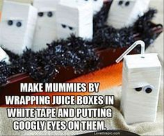 Mummy Juice Boxes | 31 Last-Minute Halloween Hacks