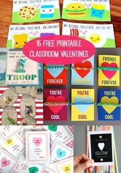 15 Free Printable Valentines For The Classroom - diycandy.com