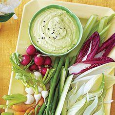 Curried Avocado-and-Yogurt Dip with Crudités | MyRecipes.com
