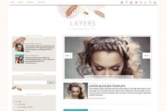 Layers Blogger Template - AUTUMN INSPIRED BLOGGER TEMPLATE!
