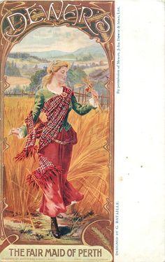 DEWAR'S, THE FAIR MAID OF PERTH  scots girl in barley field