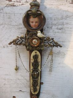 Gentle One   mixed media assemblage salvage angel by OhMyGypsySoul angel, assemblag doll, art doll, mixed media, mix media, jewelri, medium, alter, media assemblag
