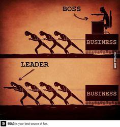 Boss or leader?