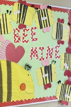 Valentine Bumble Bee Bulletin Board