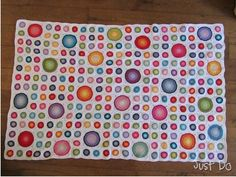 Polka Dot Frenzy Crochet Afghan - Free Pattern