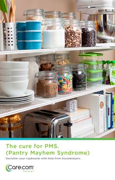 Great pantry ideas, tips for organizing your pantry and getting help for mom
