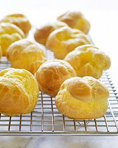 Pate a Choux - Martha Stewart Recipes.  I have a great recipe from Jacque Pepin (he's French) so let see if this measures up to his,