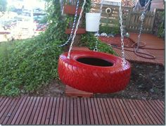 cute tire swing