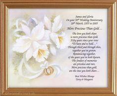 50 Wedding Anniversary On Pinterest