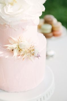 #Cake | See more wedding inspiration on SMP -  http://www.StyleMePretty.com/destination-weddings/2014/01/10/romantic-marie-antoinette-wedding-inspiration/ Izzie Rae Photography