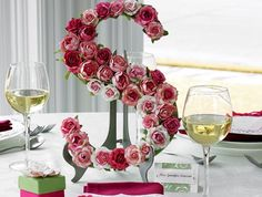 Wedding table setting.