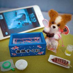 .@momos_gallery | Scooping goldfish at Japanese summer festival , Needle Felting | Webstagram - the best Instagram viewer