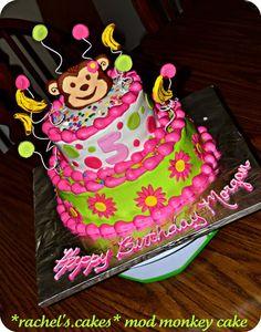 Girl Mod Monkey Cake