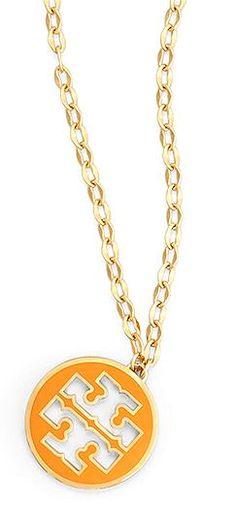 Tory Burch Logo Pendant Necklace