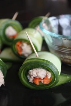 Tuna Salad Cucumber Rolls