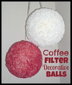 Easy DIY Coffee Filter Decorative Balls