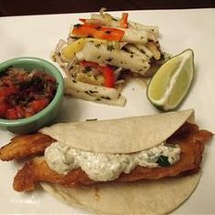 Made Fish Tacos the other night and WOW they are good, Baja style. Love it! #myallrecipes
