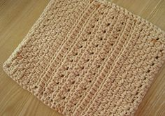 Free Crochet Pattern: Big Girl Dishcloth by Laurie Laliberte