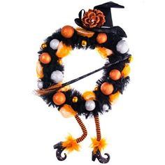 Welcome your friends and trick or treaters with this spooky and fun wreath.