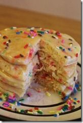 Cake Batter Pancakes for Birthday Tradition