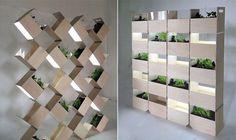 Separar espacios con jardines interiores