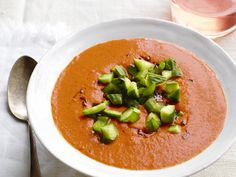 Charred Tomato Gazpacho from #FNMag #myplate #vegetables