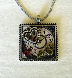 jewelri heart, gift ideas, jewelri idea, jewelri project, jewelri design, jewelri craft, steampunk jewelri, interest jewelri, heart necklac