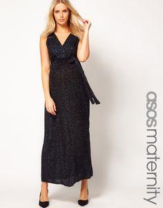 ASOS Maternity Sparkle Grecian Maxi Dress
