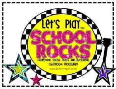 School Rocks! a game to review classroom procedures