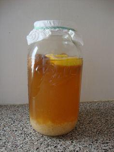 Making homemade water kefir