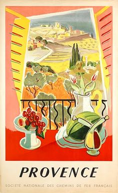 French Vintage Poster of Provence, South of France, Giclee