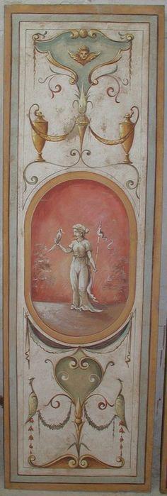 Roman style fresco