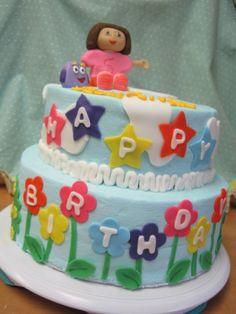 Dora Birthday cake By kitkat32 on CakeCentral.com