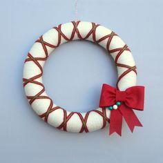Yarn wreath- simple and cheap to make myself!