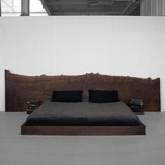 raw wood headboard
