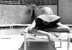 sun, hat, black and white, photography