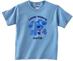 Blues Clues Personalized Custom Birthday Shirt