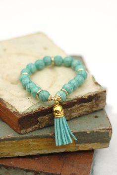 Venice Tassel Bracelet in Mint, $10.00