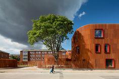 COBE unites kindergarten in copenhagen with vertical brickwork
