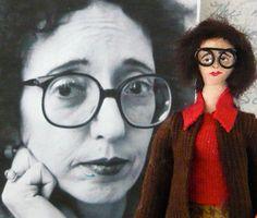 Joyce Carol Oates Doll Miniature American by UneekDollDesigns on Etsy.  NEED.