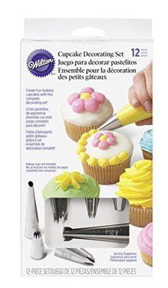 Wilton 2104-6667 12-Piece Cupcake Decorating Set - List price: $8.99 Price: $8.42 Saving: $0.57 (6%)