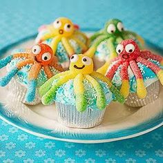 Cute Octopus Cupcakes