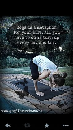 Show up for yoga and try!