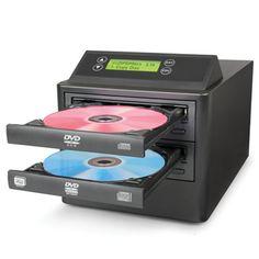 The One Step DVD/CD Duplicator - Hammacher Schlemmer