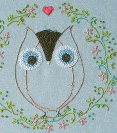 Three Kitchen Fairies: Embroidery pattern 7. Ofelia Owl