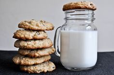 Chewy Chocolate Chip Oatmeal Cookies- trying now!