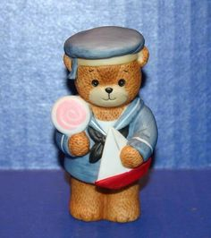 Vintage 1984 Enesco Lucy & Me Teddy Bear Sailor Figurine