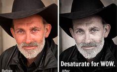 Photoshop tutorial...Desaturation photoshop action for amazing portrait