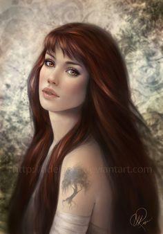 tree tattoos, books, artists, aurora, adelenta, digital art, felicia day, daughters, homes