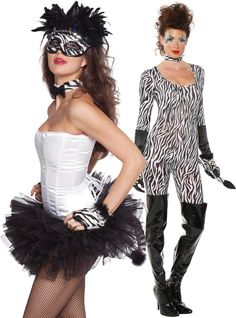 Be untamed! Transform into your own breed of *zebra cutie* with wild coordinating mix-n-match accessories like masks, catsuits, gloves, corsets & more… #BeACharacter